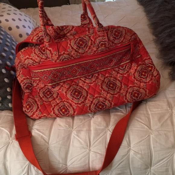 Vera Bradley Handbags - Vera Bradley duffle travel bag orange blue color